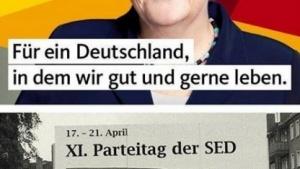 Fake News: Der Wahlslogan der CDU soll angeblich von der SED geklaut worden sein.