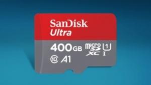 400-GByte-Micro-SD-Karte von Sandisk