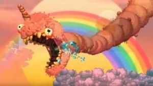 In Nidhogg 2 spielt ein fies-flauschiger Wurm eine wichtige Rolle.
