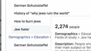 """Auf Facebook ließ sich gezielt die Gruppe der """"Judenhasser"""" ansprechen."""