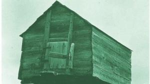 Eine traditionelle Njalla-Hütte.