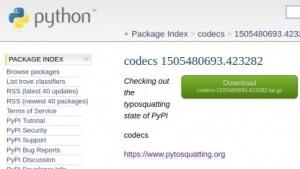codecs - ein Paket, das eigentlich Teil der Python-Standardbibliothek ist, auf PyPI.