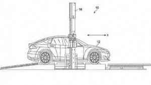 Konzeptzeichnung für Akkuwechselstation: Mensch überwacht automatischen Akkutausch