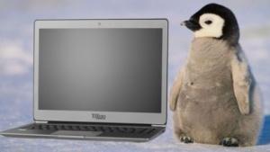 Das Tuxedo Infinitybook 14 wird mit Linux ausgeliefert.