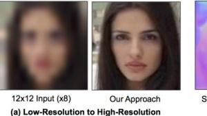 Aus wenig Informationen erstellt PixelNN erkennbare Bilder.