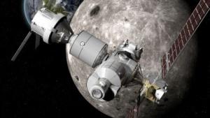 Ein früheres Konzept des Deep Space Gateway von Boeing, vor der Kollaboration mit Russland