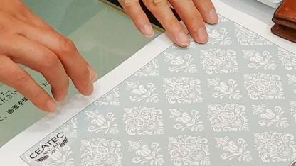 Ein Reliefdruck aus Casios Mofrel-Drucker
