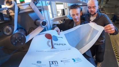 T-Paper: Der Lautsprecher aus Papier wird gedruckt und kann bedruckt werden.