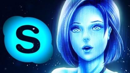 Cortana wird in Skype integriert.