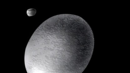 Künstlerische Darstellung von Haumea - noch ohne Ring