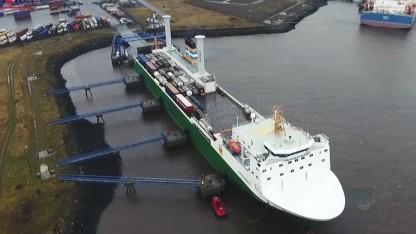 Ro-Ro-Schiff Estraden mit Flettner-Rotoren: Interesse an der Technik und Nachfrage stark gestiegen