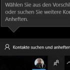 Windows 10 Version 1709 im Kurztest: Ein bisschen Kontaktpflege