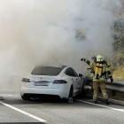 Elektroauto: Tesla Model S brennt auf österreichischer Autobahn aus