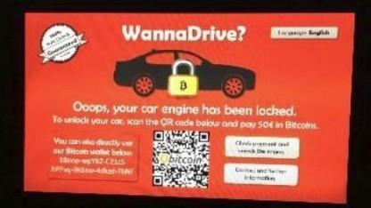 Solche fiktive Auto-Ransomware soll mit sicheren Updates verhindert werden.