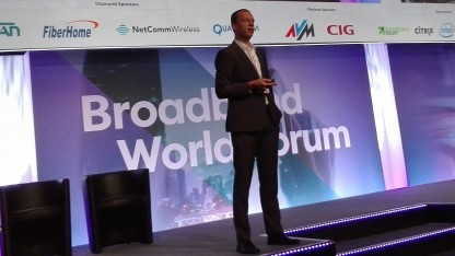 Franz Seiser, Vice President für Core Network und Services bei der Telekom am 25. Oktober 2017 auf dem Broadband World Forum in Berlin