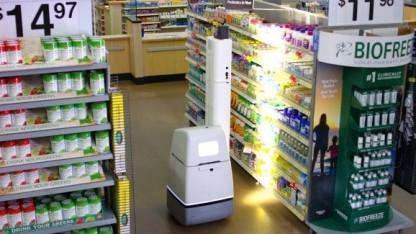 Scan-Roboter in Walmart-Geschäft: langweilige Aufgabe