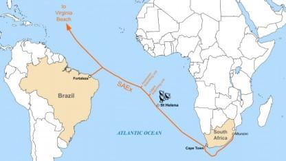 Saex Internet Seekabel Für Südatlantikinsel St Helena Golemde