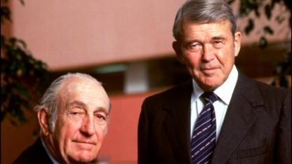 David Packard (links) und William Hewlett haben ihr Unternehmen 1938 gegründet.