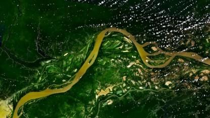 Eine Luftaufnahme des Amazonas