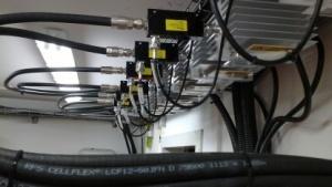 Die 3G- und 4G-Anlage der Telefónica im Berliner Bezirk Neukölln im Mai 2014