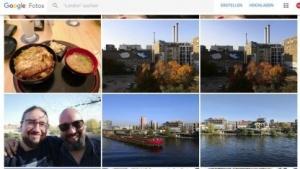 Die Weboberfläche von Google Fotos