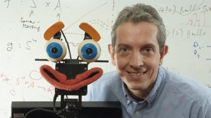 Wolfram Burgard (mit Roboter Albert): Roboter sind physikalische Systeme.
