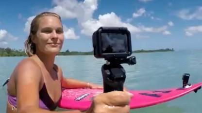 GoPro-Actionkamera beim Surfen