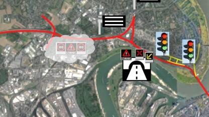 Die Teststrecke für automatisiertes Fahren in Düsseldorf