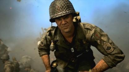 Ein Vorgesetzter in einer der Zwischensequenzen von Call of Duty: WW2