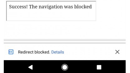 Chrome wird bösartige Redirects unterbinden.