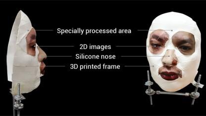 Die von dem Unternehmen hergestellte Maske