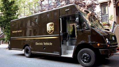 UPS-Lieferwagen: UPS will elektrischen Fuhrpark ausbauen.