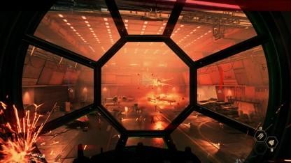 Szene aus der Kampagne von Star Wars Battlefront 2