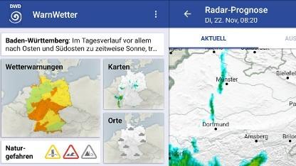 Rechtsstreit um die Warnwetter-App des DWD