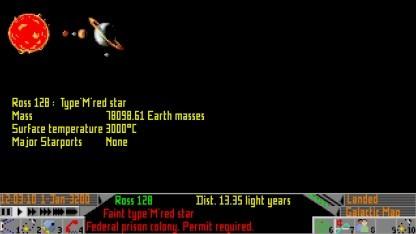 Die Darstellung des Planetensystems von Ross 128 im Spieleklassiker Elite II war nicht ganz korrekt.