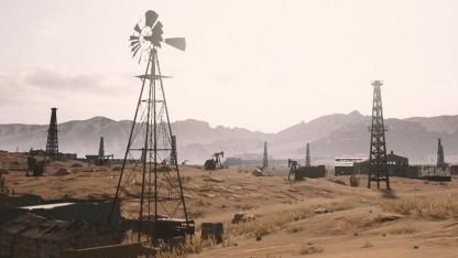Nvidia zeigt die Wüstenkarte von Playerunknown's Battlegrounds.