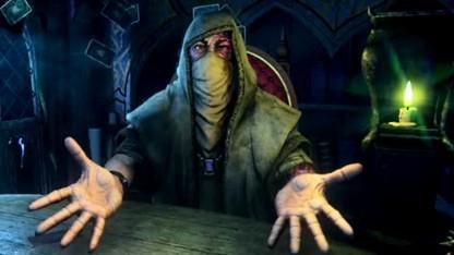 Hand of Fate 2 lädt Spieler zu schicksalshaften Kartenspielen.