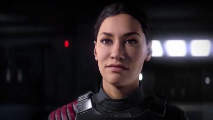 Iden Version aus der Kampagne von Star Wars Battlefront 2 freut sich.