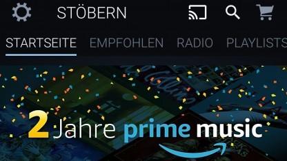 Amazon Music-App mit Google-Cast-Unterstützung