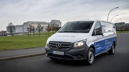 Lieferwagen E-Vito: Weiterentwicklung zusammen mit bestimmten Kunden
