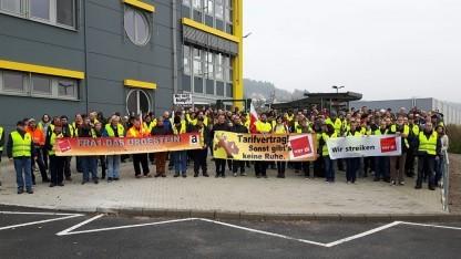 Amazon-Arbeiter im November 2017 im Streik