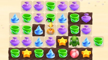 Angry Birds Match erinnert an eine Mischung aus Candy Crush Saga und Angry Birds.
