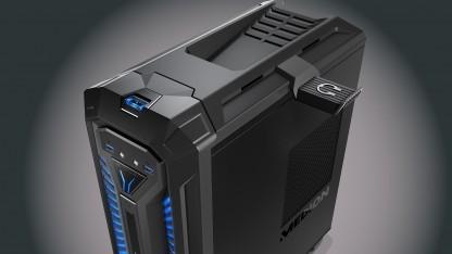 Das Gehäuse des Erazer X67015 richtet sich klar an Gamer.