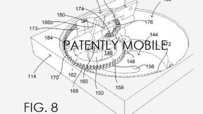 Googles Patent zeigt einen Motor für das Scharnier.