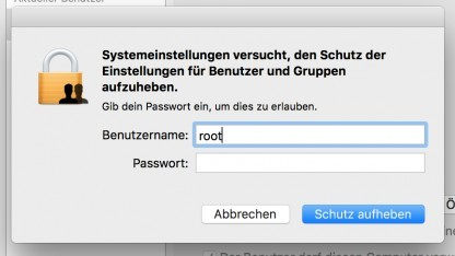 Benutzeranmeldungung MacOS