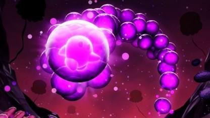 Hauptfigur Joy springt in einem Ball durch Ode.