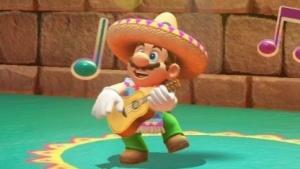 So feiert ein Ex-Klempner in Super Mario Odyssey seine Verkaufserfolge.
