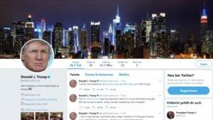 Das Nutzerkonto von Donald Trump war elf Minuten lang offline.