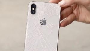 Zersplitterte Rückseite vom iPhone X