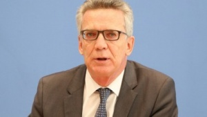 Bundesinnenminister Thomas de Maizière (CDU) bei der Vorstellung des BSI-Lageberichts.